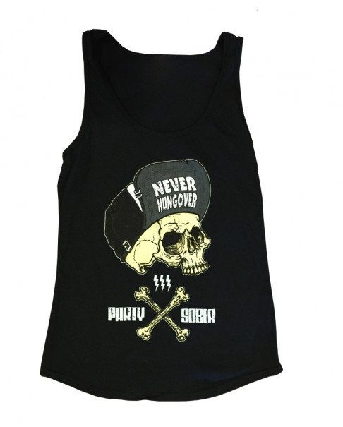 Party Sober Clothing Never Hungover Tank Womens Black