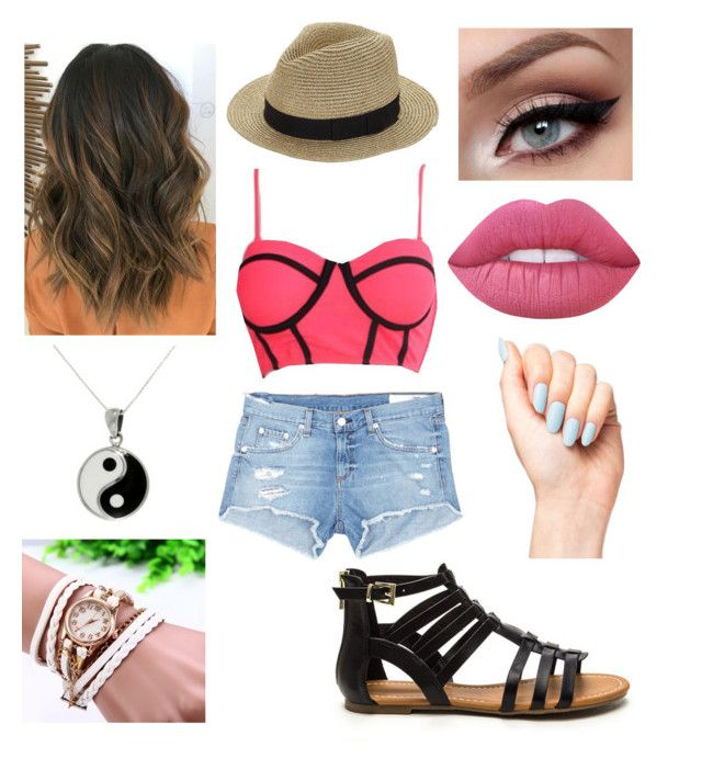 """""""Summer Outfit #4"""" by ania-kondrat on Polyvore featuring WithChic, rag & bone/JEAN, Lime Crime and Carolina Glamour Collection"""