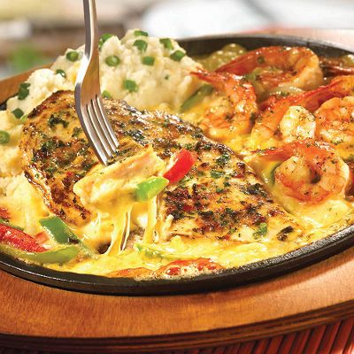 TGI Fridays Recipe/sizzling chicken and cheese with shrimp !!!