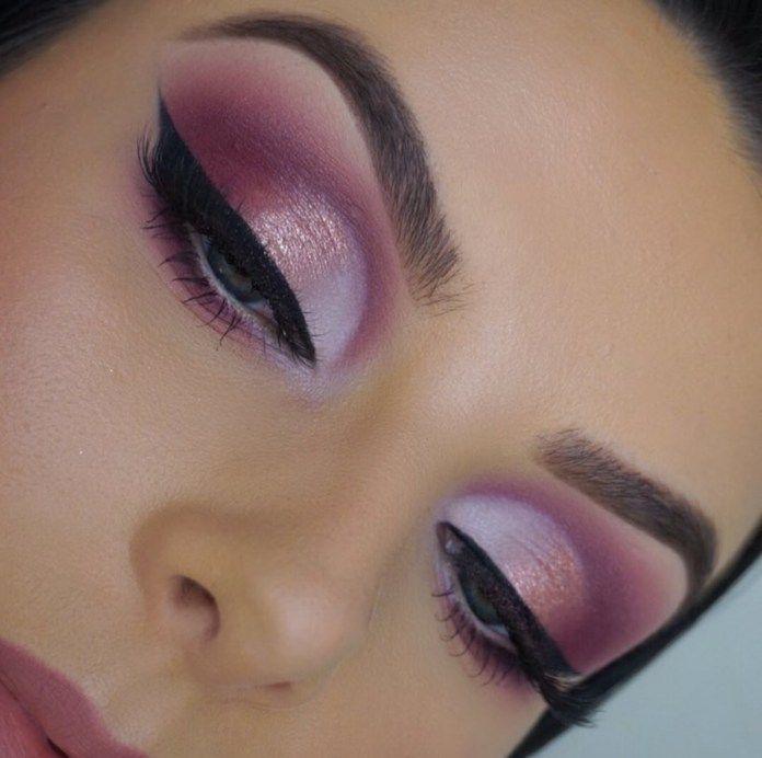 Valentines Day Makeup Look Ideas | Eye Makeup | PinK Mauve White Shimmer and Matte Eyeshadows | Instagram Eyebrows | Valentine Makeup | Makeup for blue eyes #makeup #eyes #valentinesday #valentine #eyeshadow #eyemakeup Pin: @amerishabeauty #eyemakeupideas