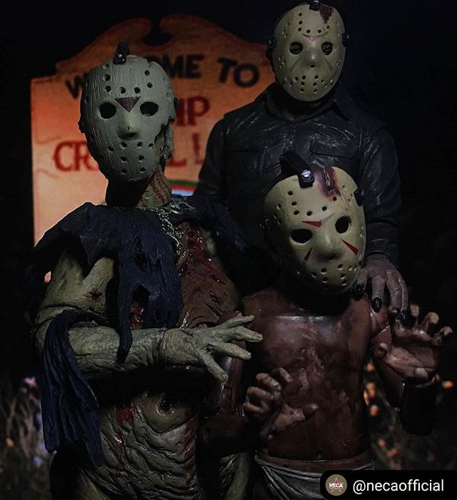 Ha toys you say. #Repost from @necaofficial Family!  : @toyman98  #necaphotooftheday #neca #fridaythe13th #jasonvoorhees #evildead #toys #actionfigures #horror #mask