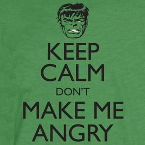 [Marvel: T-Shirts: Keep Calm And Dont Make Me Angry (Product Image)]