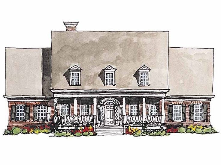 Eplans Adam   Federal House Plan   Southern Charm   3066 Square Feet And 4  Bedrooms From Eplans   House Plan Code