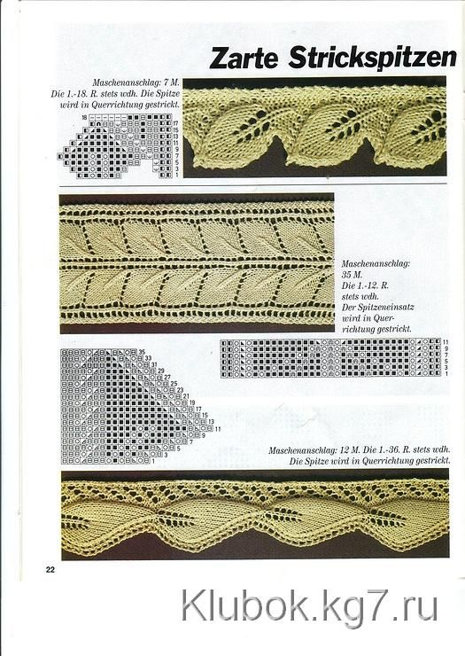 17 Best images about Knitting - Edges and Borders on Pinterest Knitting, St...