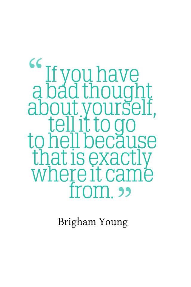 This image of quote tells u about how people think,Bad thinks about them self's