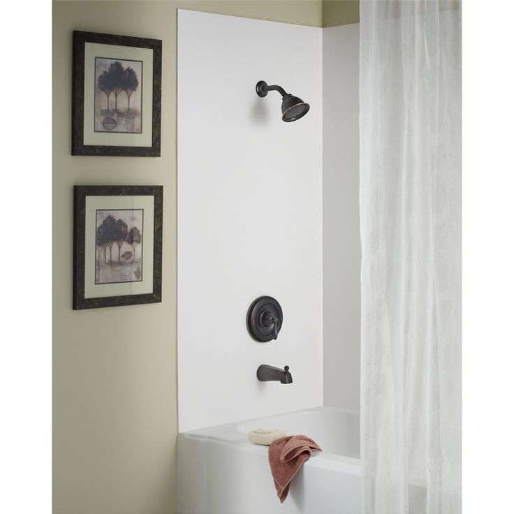 $189 Shop Moen Caldwell Mediterranean Bronze 1-Handle WaterSense Bathtub and Shower Faucet with Single Function Showerhead at Lowes.com