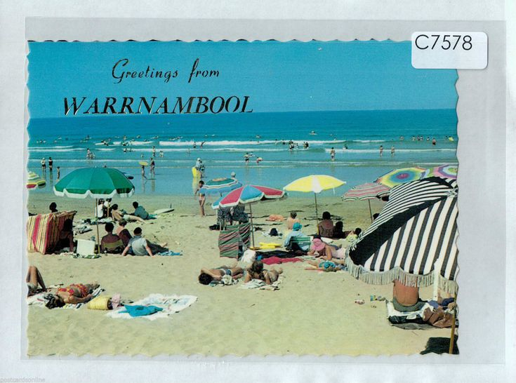 C7578cgt Australia V Beach Scene Warrnambool Greetings NCV postcard | eBay