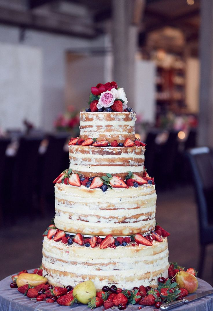Beautiful naked cake #nakedcake #wedding #freshfruit #icing #weddingcake #wedding #stonesoftheyarravalley #rustic