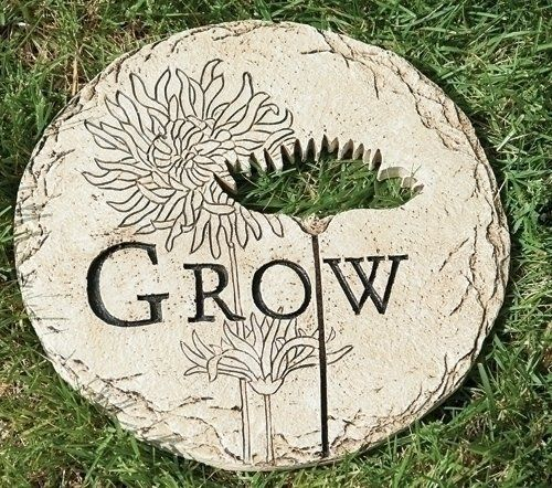 12 Flower Cut Out Grow Decorative Garden Patio Stepping Stone Outdoor