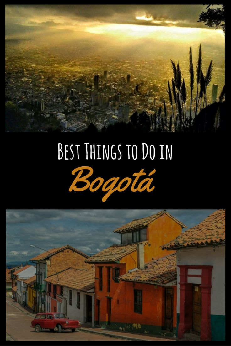 What to do in Bogota? There are plenty of things to do in the capital of Colombia. Take the cable car up to Cerro de Monserrate or make a trip to the salt cathedral or the nearby pueblo Villa de Leyva. Enjoy the great nighlife or go for a bike tour. More Information in my post. Thanks for repinning #colombia #bogota #capital #thingstodo #candelaria #plazabolivar