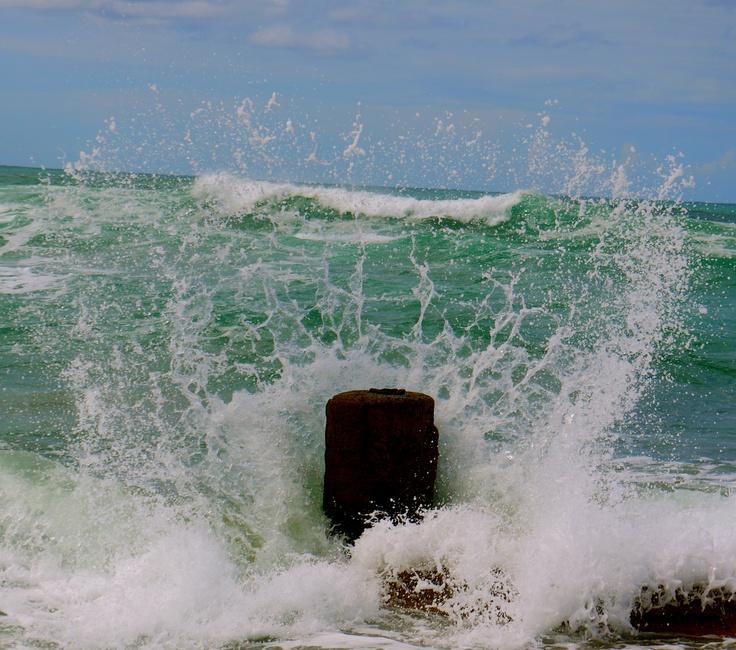 wave, splash, sea, hibiscus coast, south africa