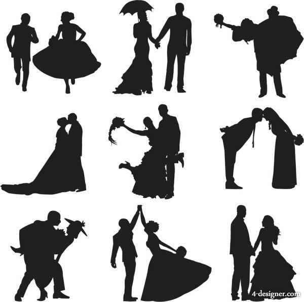 Download 10 best Silhouettes of Brides images on Pinterest | Cut ...