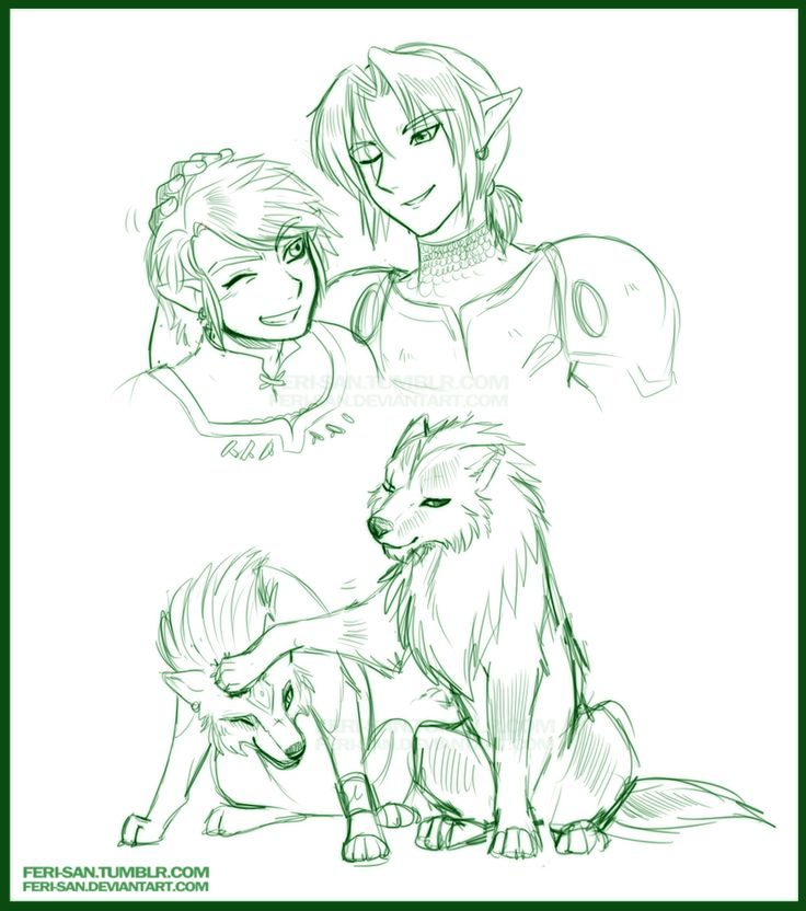 by Ferisae. Past and present hero - The Legend of Zelda: Twilight Princess