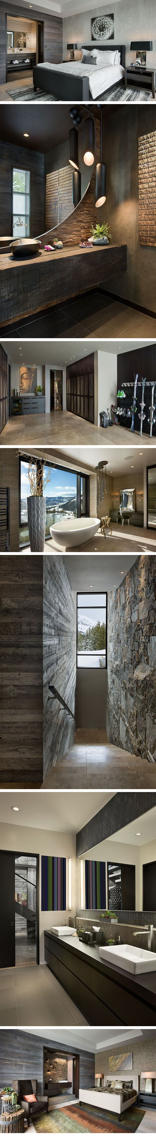 woodsHouse Wood, Cool Bathroom Ideas, Bedrooms Wood Interiors, Dreams House, Cool House, Beautiful Modern Bedrooms, Mountain Bedroom, Mountain House, Modern Houses Interior