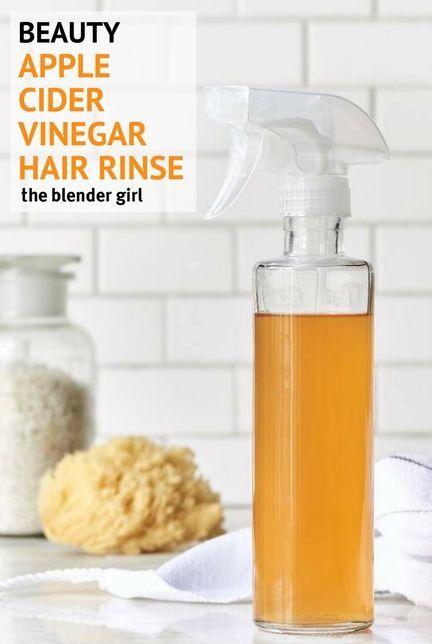 Apple Cider Vinegar Hair Rinse | Natural Hair Cleanser | The Blender Girl