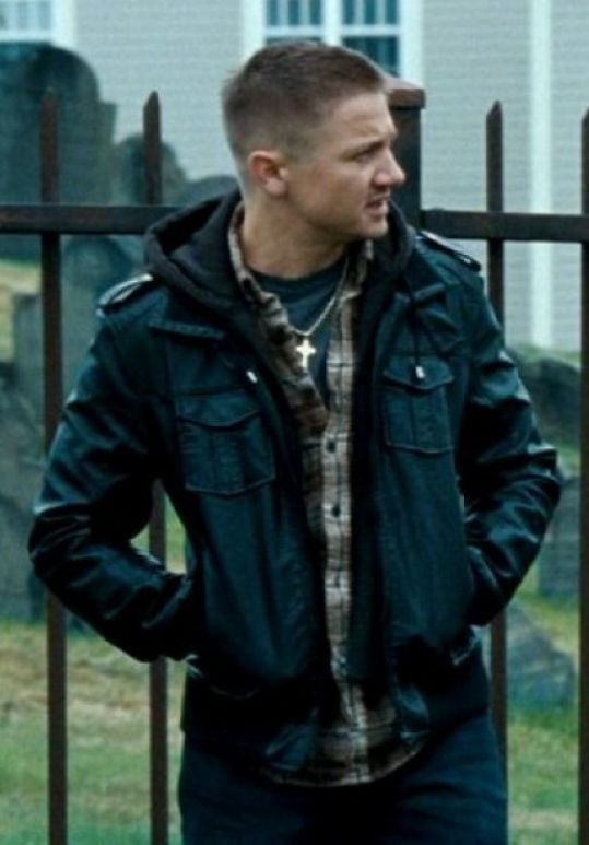 The Town is a film in which Jeremy Renner played the role of James Coughlin. He wears a unique Jeremy Renner Jacket in this film!!  #TheTown #Movie #JeremyRenner #WinterCostume #Outfits #Celebrity #Fashion #Cosplay #geektyrant #geek #sale #Shopping #MensFashion #MensWear #LeatherOutfit