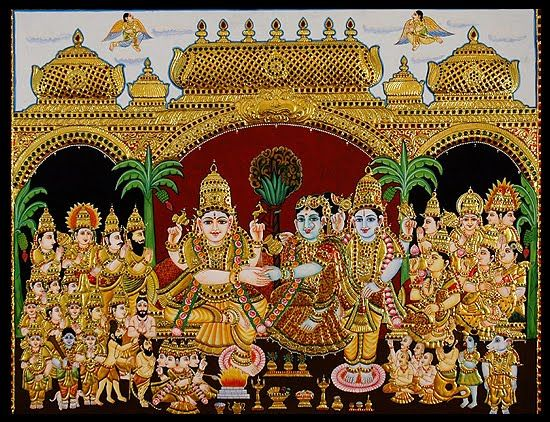 tanjore-paintings-girija-kalyanam-ta064.jpg (550×422)