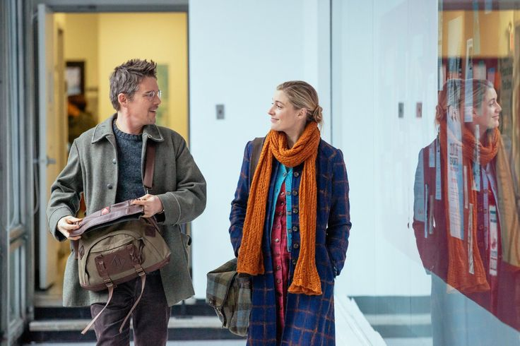 Ethan Hawke and Greta Gerwig in Maggie's Plan (2015)