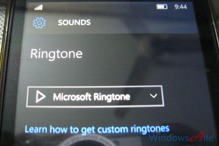 how to change ringtone windows phone 10