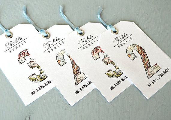 Vintage Travel Wedding Theme Guest Seating by CandiceScottDesign