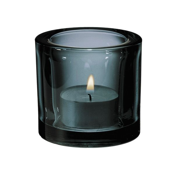 Iittala Kivi votive, grey ($20) ❤ liked on Polyvore featuring home, home decor, candles & candleholders, fillers, candles, colored candles, iittala, iittala candle holders, gray candles and grey home decor