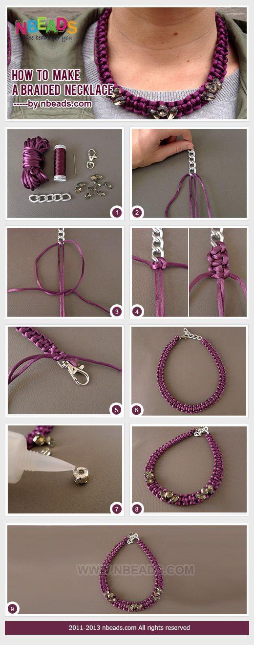How to Make a Braided Necklace  ❥ 4U // hf