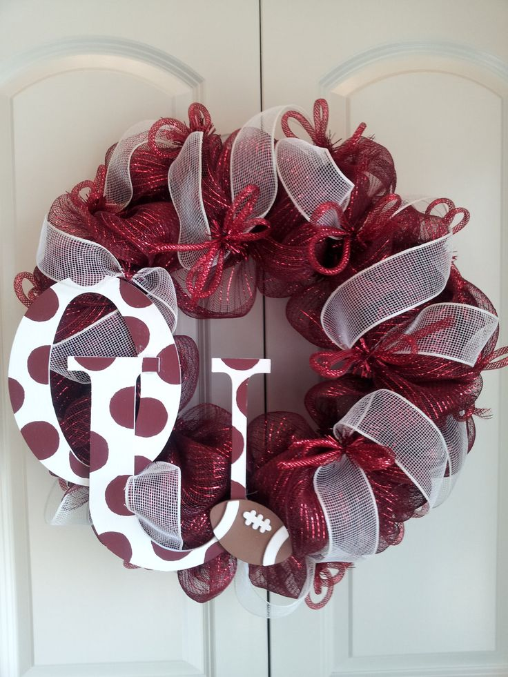 SALE...Oklahoma Sooners deco mesh wreath. $60.00, via Etsy.