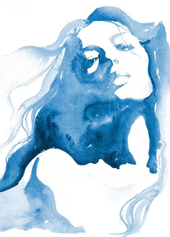 Mode-Illustration Aquarell Print Mode Malerei von silverridgestudio