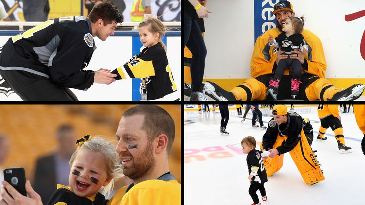 February 24, 2017 at Heinz Field: The Penguins practiced at Heinz Field and were joined by their families afterwards for a family skate.