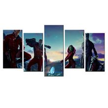 Modern Painting For Bedroom Marvel Movie Guardians Of The Galaxy Wall Poster HD Prints On Canvas 5 Panel Wall Pictures Canvas //Price: $US $17.98 & Up to 18% Cashback on Orders. //     #fashion