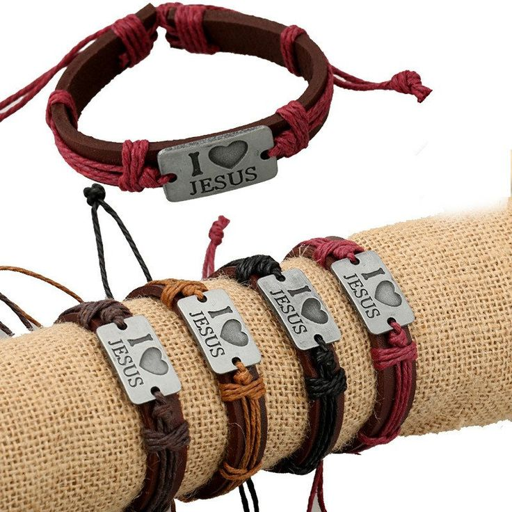 Genuine Leather Jesus Bracelet - Choose your Color – Enjoy FREE Shipping!