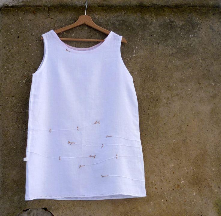 From atelier JEN LEN / 100% linen / 2015, with hand embroidery (Marketa Vachalova Vojtiskova)