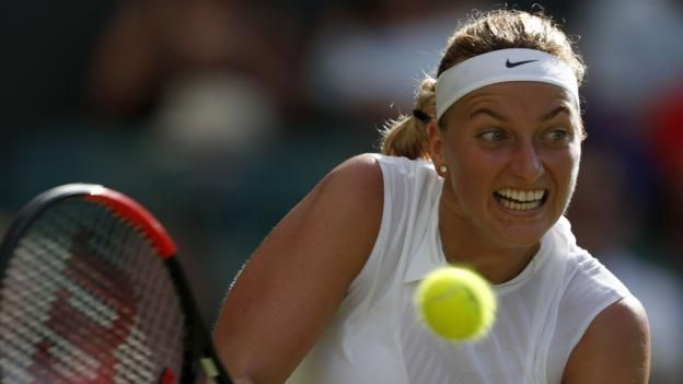 Wimbledon 2017: Petra Kvitova and Simona Halep reach round two http://www.bbc.co.uk/sport/tennis/40484718