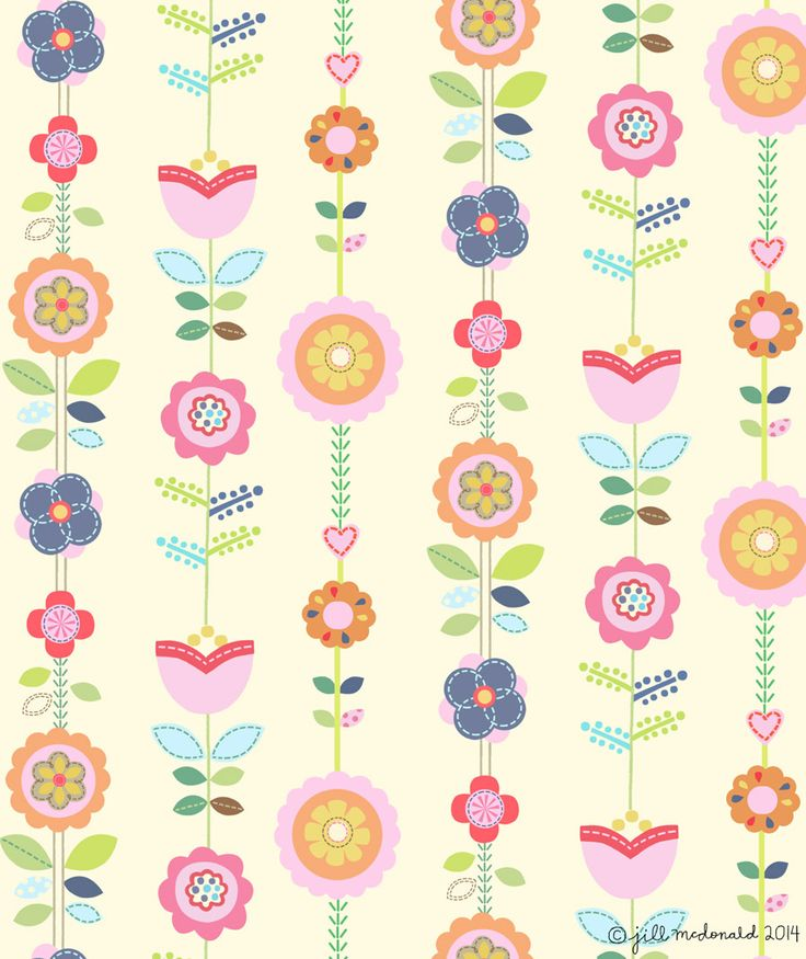 Floral Ribbon by Jill McDonald
