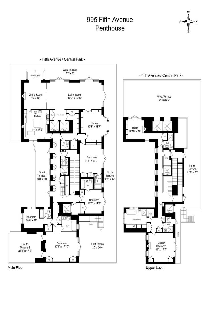 1404 best penthouse apartment floor plans images on pinterest met museum facing upper east side penthouse will hit the market for 65m