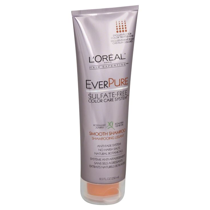 L'Oreal Hair Expertise EverPure Shampoo, Smooth, Rosemary Juniper, 8.5 fl oz (250 ml)