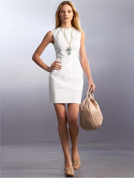 25  best ideas about White sheath dress on Pinterest | Sheath ...
