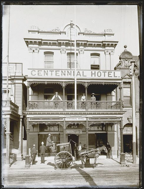 Centennial Hotel, Scott St, Newcastle, NSW, [1910] Cultural Collections, University of Newcastle, NSW, Australia