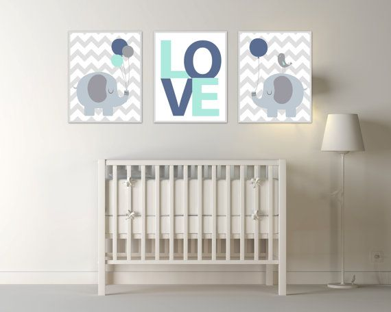 Baby Boy Nursery Art, Elephant, Bird and Balloon Art Print, Suits Blue and Mint Nursery Decor & Bedroom Decor- N1650,1651,1652 This listing is for 3 art prints only - frame not included. These prints are professionally printed on high quality heavyweight matte paper with archival inks. Please be aware that colour variations may occur due to the differences in computer monitors. IF YOU WOULD LIKE TO CUSTOMIZE YOUR PRINTS: When checking out, please leave a message in the Note to Seller...