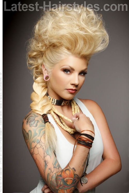 Blonde Mohawk Updo -Different Hairstyles Some other place... in another time...