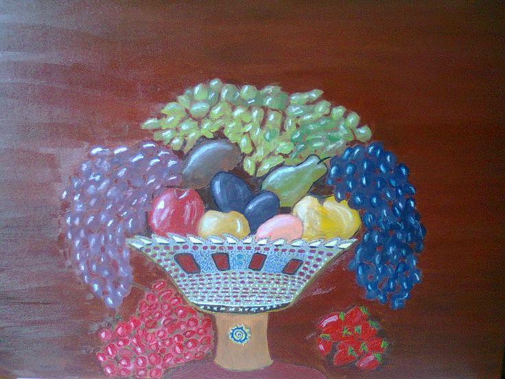 the fruit basket I've made for the living room