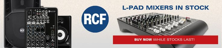 Oh yes! RCF already create excellent speakers, now they have the L-Pad mixers! In stock at www.acaudio.co.uk