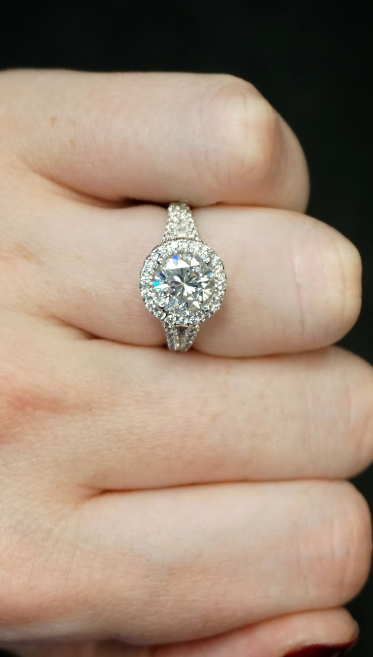 Custom Halo Diamond Engagement Ring  Joseph Jewelry  Bellevue  Seattle   Online  Design