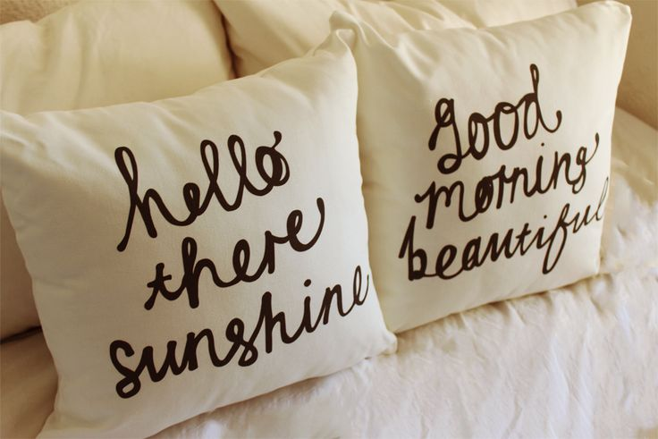 Hello There Sunshine // Good Morning Beautiful Cushion Set