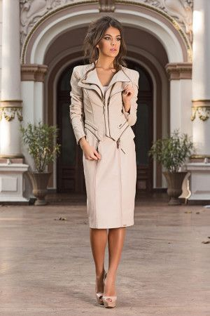 Very elegant and chic jacket that can be worn with a pair of jeans or with a dress. Sculptural Jacket adds a stylish layer to your everyday look. A real must for the season, this chic jacket will be the most versatile item in your wardrobe-by Vero Milano!