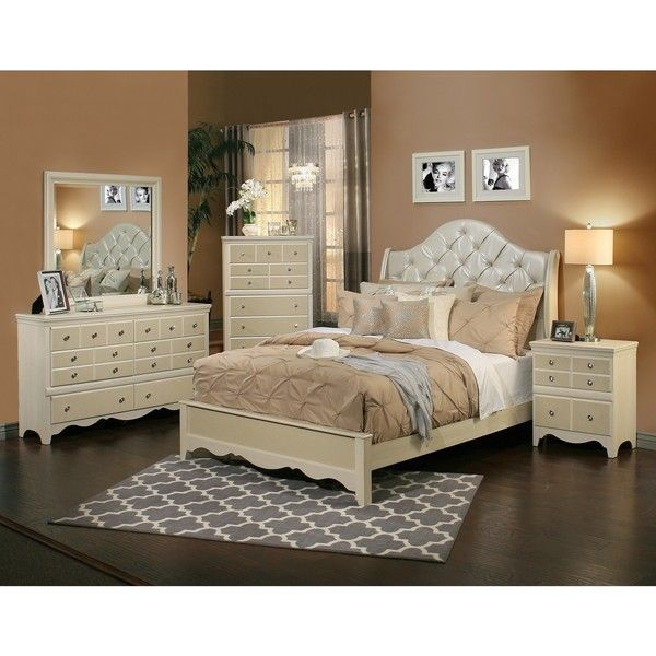 Sandberg Furniture Marilyn 4-Piece Bedroom Set ($2,001) ❤ liked on Polyvore featuring home, furniture, brown, california king bed furniture, diamond furniture, storage furniture, tufted bedroom set and storage bedroom sets