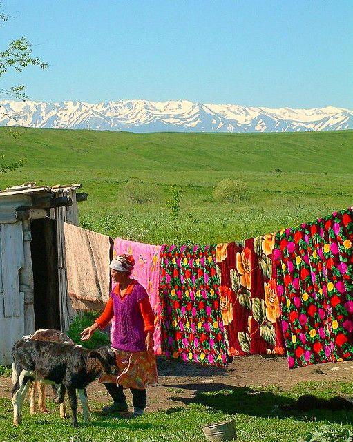 Village in the Mountains of Heaven, Kazakhstan