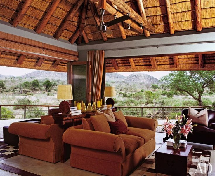 Exotic Living Room By Chris Browne In Mpumalanga South Africa The Cowhide Rugs Were