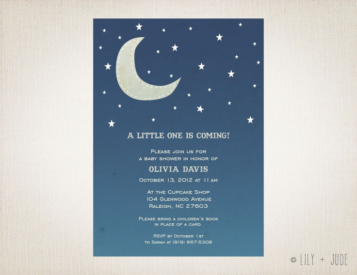 Moon Amp Stars Baby Shower Invitation Diy Digital Printable