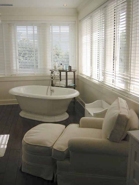 Giannetti Architecture and Interiors  Hardwood floors in the bathroom